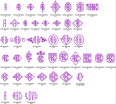 fonts layout options for embroidery monogramming u0026 screenprinting