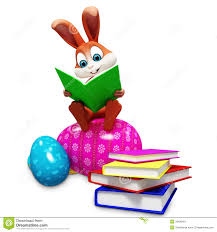 easter bunny book bunny sitting on egg reading a book stock image image 36188401