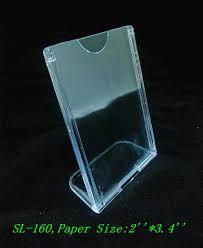 clear 2 u0027 u0027 x3 4 u0027 u0027 vertical l shape angled plastic acrylic sign