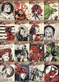 marvel sketch cards by j on deviantart