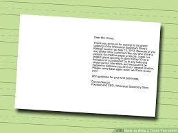 Thanksgiving Mail To How To Write A Thank You Letter With Sle Letters Wikihow