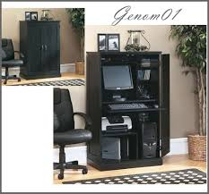 Laptop Desk Armoire by Apartments Charming Home Office Design With Black Wood Corner
