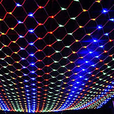 8 function multi color led christmas lights jiaen decorative led net mesh fairy string light with 8 function