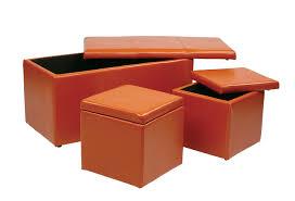 office storage ottoman leather orange storage ottoman u2013 home improvement 2017 orange