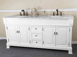 Bellaterra DWH White Double Sink Bathroom Vanity White - White vanities for bathrooms