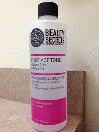 beauty secrets acetone stuff works great nail polish comes off