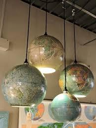 Globe Light Fixtures Upcycled World Globe Easy Diy Pendant Lights Globe Room And