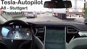 tesla model s autopilot in stuttgart praxistest youtube