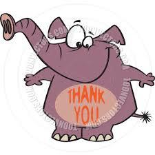 cartoon thank you elephant by ron leishman toon vectors eps 19251
