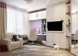 Laminate Bedroom Flooring White Wallpaper In Mdoern Lady Bedroom With Bookcase Wardrobe