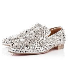 modern design christian louboutin gold intern flat leopard loafers