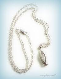 jesus fish necklace free shipping this silver christian fish necklace can be the