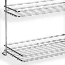mensola acciaio mensola due piani applicabile alla barra da cucina portautensili