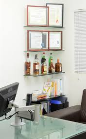 decorate office shelves decorating perfect floating glass shelves ideas for office decor