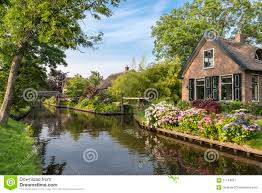 Giethoorn Holland Homes For Sale by Giethoorn Netherlands Stock Photo Image 57766159