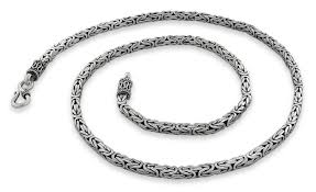 silver byzantine chain necklace images Sterling silver 20 quot square byzantine chain necklace 3 5mm gif