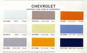 1964 fawn interior paint code the 1947 present chevrolet