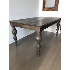 restoration hardware grand baluster dining table aptdeco