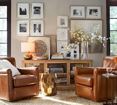 Pottery Barn Leather Couch Irving Leather Swivel Armchair Pottery Barn Living Room Re Do