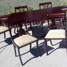 Drexel Dining Room Furniture Best Drexel Dining Room Table W 6 Lyre Back Chairs For Sale In