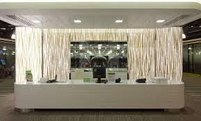 Corian Reception Desk Bone Corian Reception Desk And Credenzas At Freshfields London