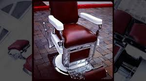 Barbers Chairs 1920 U0027s Theo A Koch Barber Chair Restoration Youtube