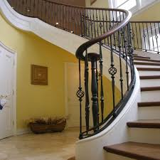 Free Standing Stairs Design Custom Curved Free Standing Stair By Master Woodworks Inc