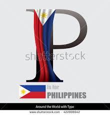 vector letter p philippines flag design stock vector 422806942