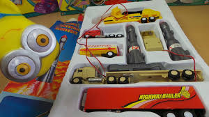 semi trailer truck rocket control center vintage semi trailer truck toy set youtube