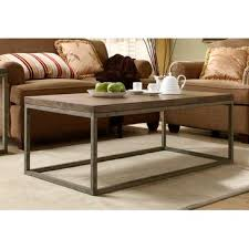 Weathered Wood Coffee Table Homelegance Daria Cocktail Table In Metal Frame With Grey