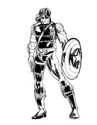 captain america winter soldier coloring page 4150