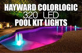 led swimming pool lights inground hayward colorlogic 320 led pool kit lights 01 png