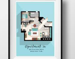 Layout Apartment Friends Tv Show Apartment Floor Plan Friends Tv Show Layout