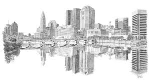 columbus skyline drawing by andrew aagard