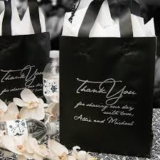 personalized gift bags wedding thank you bags personalized 8 x 10 frosted gift bags