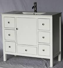 18 Bathroom Vanity by 40 Inch 18 Deep White Bathroom Vanity 7 Drawers White Porcelain