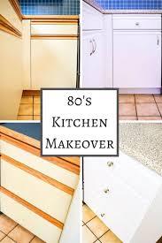 how to paint melamine kitchen cabinet doors 80s kitchen update reveal laminate kitchen cabinets