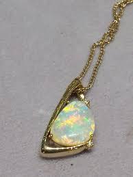 white opal necklace australian light opal jewellery u2013 gold set u2013 mineshaft canberra