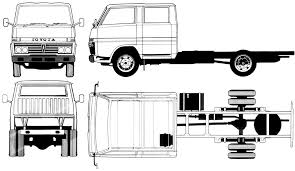 toyota hiace truck 1982 toyota dyna dc heavy truck blueprints free outlines