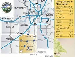 Kansas State Map by Transportation Miami County Ks Official Website