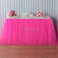Pink Table L Handmade Pink Tulle Tutu Table Skirt Tulle Tutu Skirt 100cm X