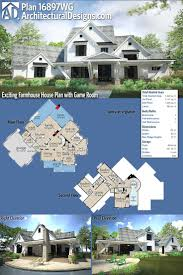 best 25 modern farmhouse plans ideas on pinterest farmhouse plan 16897wg exciting farmhouse house plan with game room