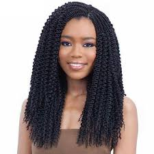 Synthetic Hair Extension by Can Be Unravelled Crochet Braids Curly Freetress Hair 22inch Long