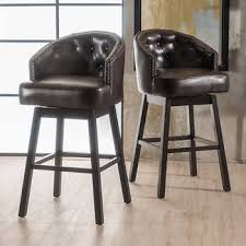 bar stools wood and leather counter height barstools costco