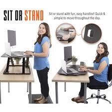 Standing Or Sitting Desk X Elite Ultra Slim One Level Sit Stand Desk Converter Standing Steady Ssudslmbl 254 Jpg V 1522598740