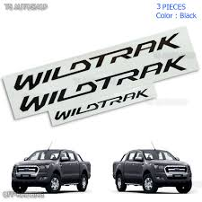 set black 3pcs sticker decals wildtrak for ford ranger t6 2012