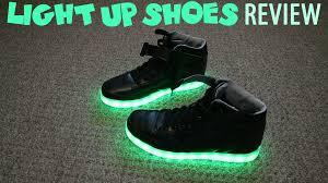 led light up shoes light up shoes led shoes review youtube