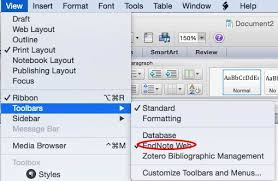 microsoft word publishing layout view using cite while you write endnote basic and desktop support
