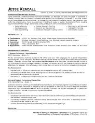 Resume Template It Technology Resume Template Technical Resume Examples It