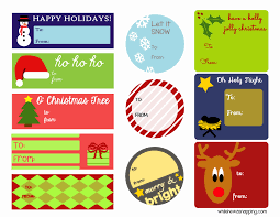 holiday printable gift tags while he was napping